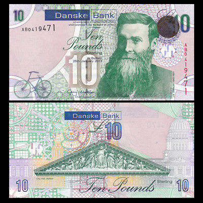 Northern Ireland 10 Pounds, 2013, P-NEW, Danske Bank, UNC