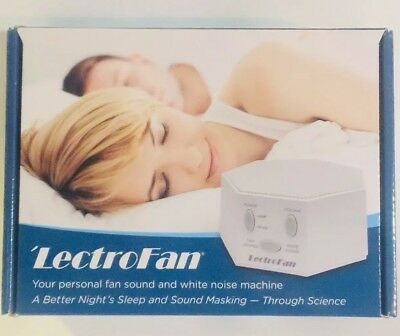 LectroFan High Fidelity White Noise Sound Machine 20 Unique Non-Looping Fan
