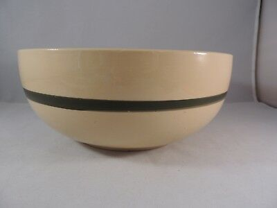 Watt apple bowl 73 one apple with 3 leaves green band on outside 9""