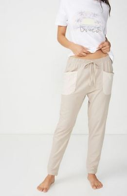 Bnwt Cotton:on Women's Jersey Harem Pyjama Pant Size Xs, S, M