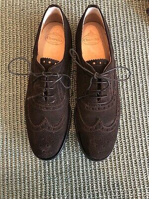 John White BOSWELL Mens Formal Funky Leather//Suede Wingtip Brogues Brown//Snuff