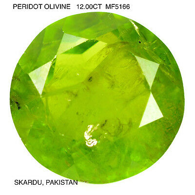 PERIDOT [OLIVINE] NATURAL MINED STONE IMPRESSIVE AND RARE  12.00Ct  MF5166