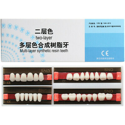 1Set A1 Shade S2 L25 Full Mouth Dental Synthetic Resin Teeth Denture Tooth False