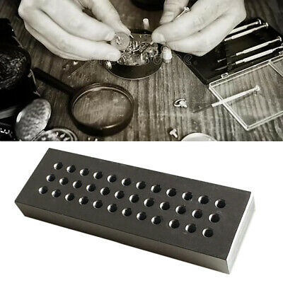 Professional Watchmakers Tools 36 Holes Riveting Stake Plate Watches Repair Kits