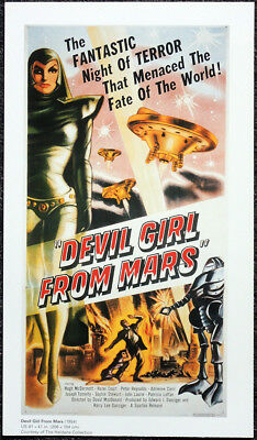Devil Girl From Mars 1950/'s B Movie Poster A3 reprint