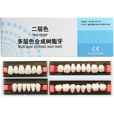 A2 Shade Full Mouth Dental Synthetic Resin Teeth Denture Tooth False all Types..