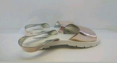 42ec720d3999d3 LONDON REBEL LADIES Rose Gold White Jelly Flat Sandals UK Size 5 ...