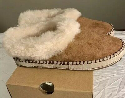 3be5358be7d UGG AUSTRALIA WRIN Chestnut Suede Fur Slippers Womens Size 11 ...