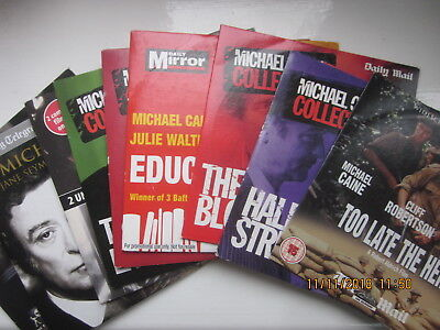 9 Michael Caine Films promo dvds Too Late The Hero +