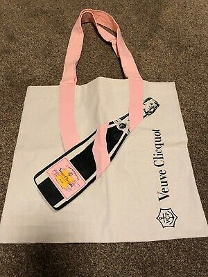 "Veuve Clicquot Rose Champagne  Cotton Tote Shopping Bag New 14"" Square"
