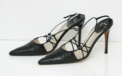 0a80f4674 CHRISTIAN DIOR WOMEN'S Shoes Heels Black Size 37 Made in Italy ...