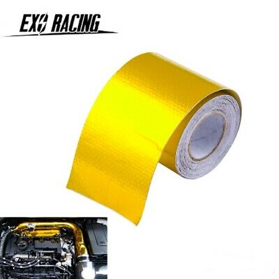 10Mx5CM Gold Roll Adhesive Reflective High Temperature Heat Shield Wrap Tape