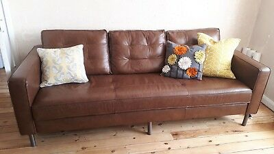 Retro Style Leather Sofa Barker And Stonehouse Only 2 Months Old