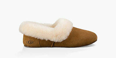 e9b2b46ba75 UGG KENDYL FULLY Lined Sheepskin Collar Slippers Chestnut Size 5 Us