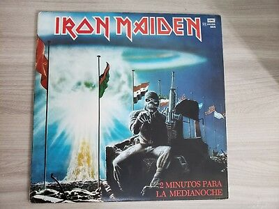 """Iron Maiden 2 Minutes To Midnight ARGENTINA 12"""" Vinyl- killers soundhouse tapes"""