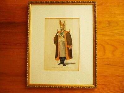 Antique Oriental Ottoman Janissary Portrait Turkish Military Middle East English