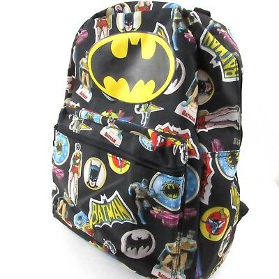 7c0308217582 Batman Robin Retro Backpack The Boy Wonder DC Comics Boys Bookbag School Bag