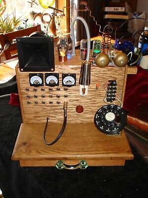 Enigmatic Unique Hand Crafted Time Traveling Steampunk Radio Receiver