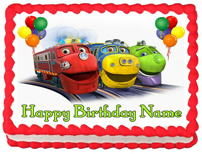 CHUGGINGTON Party Edible Cake topper image