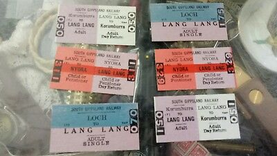 Old south gippsland railwayTrain Tickets x6 as shown