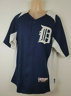 Majestic Authentic Shirt Jersey Detroit Tigers small* Cool Base
