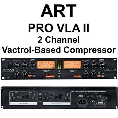 ART PRO VLA-II 2 Channel Rackmount Live Stage or Studio Mic Preamp