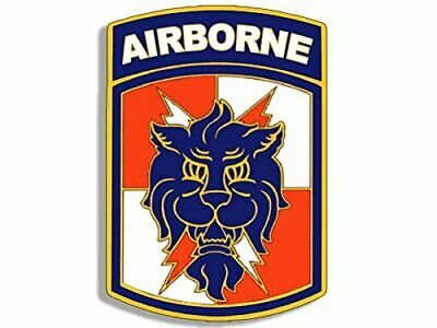 3x4 inch 35th Signal Brigade Airborne Lion Head Sticker (Army Military Vet)