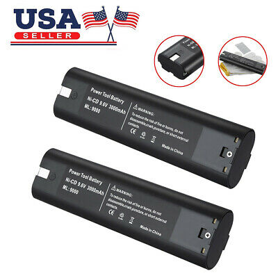 2 x 3.0Ah 9.6 Volt Ni-CD Replacement Battery for Makita 9000 9001 9002 9033 9600