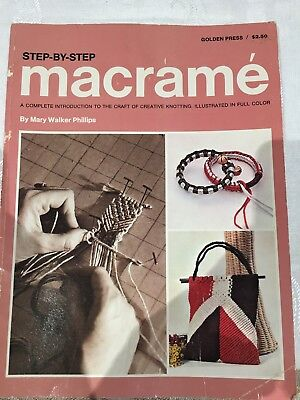 Golden Press Step-by-step Macrame ~ Bangles, Bags, Mats. Complete Introduction