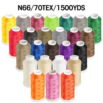 1500YD Nylon Sewing Bonded Thread #69 N66 T70 for Upholstery Leather Beading