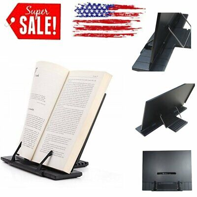 Portable Document Book Stand Holder Laptop iPad Adjustable Reading Bookstand US