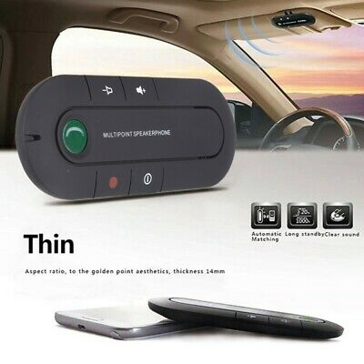 Wireless Bluetooth Hands Free Speaker Phone Car Kit Visor Clip Speakerphone AU
