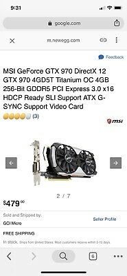 MSI GEFORCE GTX 960 4GD5T OC 4GB ARMOR 2X - $112 50 | PicClick