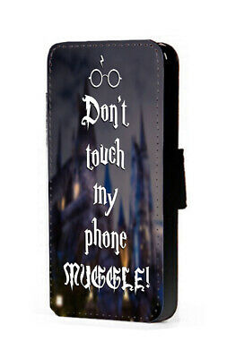 Harry Potter Inspired Don't Touch My Phone Muggle faux leather flip phone case
