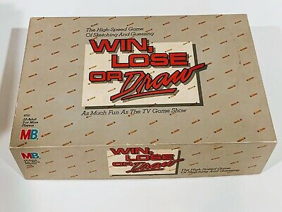 Vintage 1987 Milton Bradley Win, Lose or Draw Board Game COMPLETE GAME