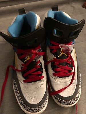 competitive price e4b9b d18b7 2012 Nike Air Jordan Spizike Bordeaux Cement Grey Red Black Yellow Blue  White