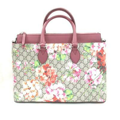 5103d7e77ac GUCCI Shoulder Tote Hand Bag GG Blooms Japan Limited 409533 Supreme Leather  Used