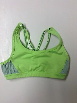 e3bae03442f92 Ivivva girls Strappy Lime Green Aqua sports bra size 8 EUC