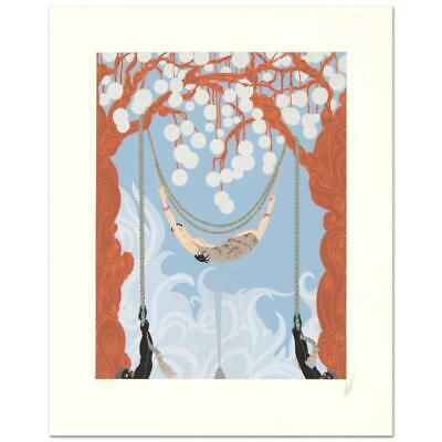 """Erte """"Spider Web"""" Hand Signed Limited Edition Numbered Serigraph; COA"""
