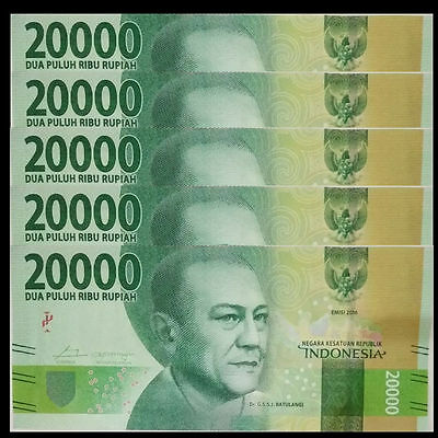UNC/>New Design P-NEW Indonesia 5000 Rupiah Lot 10 PCS 2016//2017