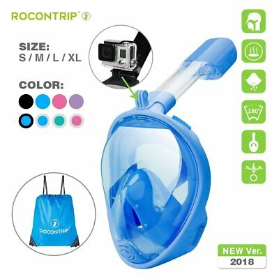 Underwater Anti-Fog Full Face Mask Swimming Diving Snorkel Scuba GoPro Glass
