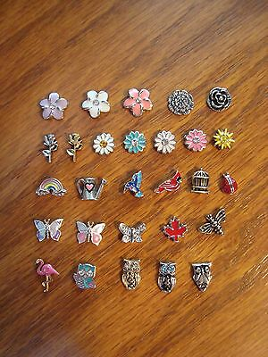 """Authentic Origami Owl """"Your Choice"""" of Charms - Flowers, Birds & Misc.(#3)+ A?#"""