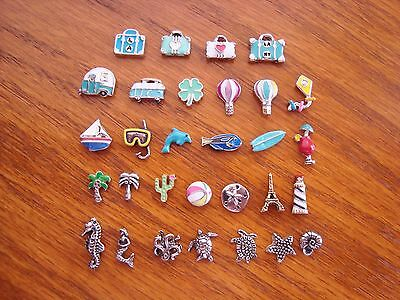 """Authentic Origami Owl  """"Your Choice"""" of Charms - Vacation & Ocean (#5) + A?#"""