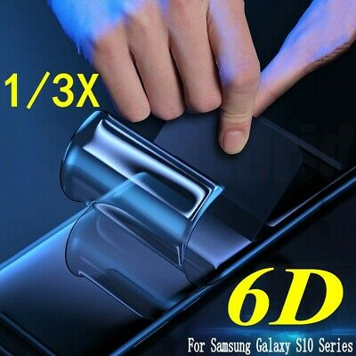 For Samsung Galaxy S10 Plus S10E 6D Full Curved TPU Soft Screen Protector Film