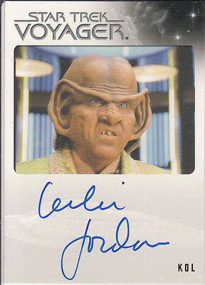 Star Trek Voyager Quotable 2012 Leslie Jordan autograph