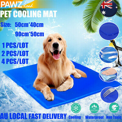 Pet Cooling Mat Dog Cat Chilly Non-Toxic Lareg Dog Bed Breathable Pad Cushion