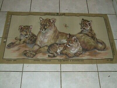 Tapestry Canvas - Lioness and Cubs - New