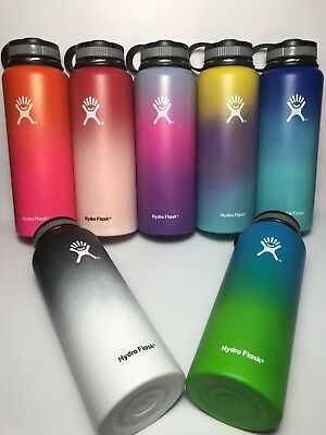18/32/40oz Hydro Flask Wide Mouth Insulated Water Bottles W/Flat Cap, PROMOTION