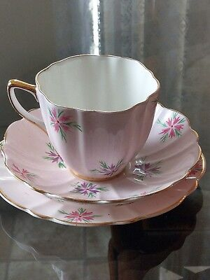 Vintage hand painted  Old Royal trio made in England