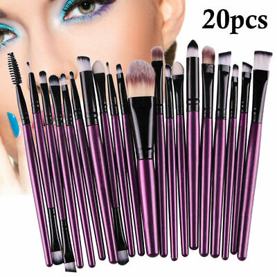 20Pcs Makeup Brushes Kit Set Powder Foundation Eyeshadow Eyeliner Lip Tools -Hot